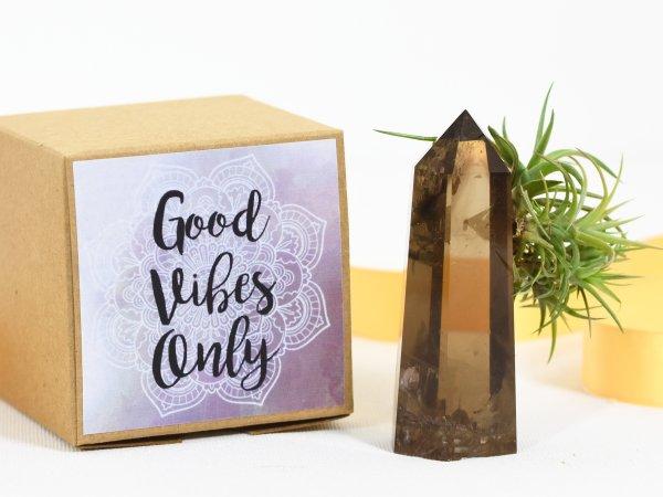 air friend good vibes only smoky quartz air friend